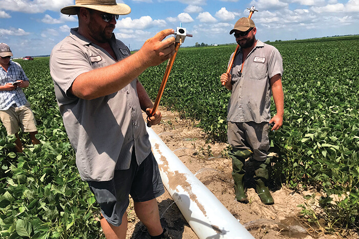 Printed pipe offers  solution for surface irrigators
