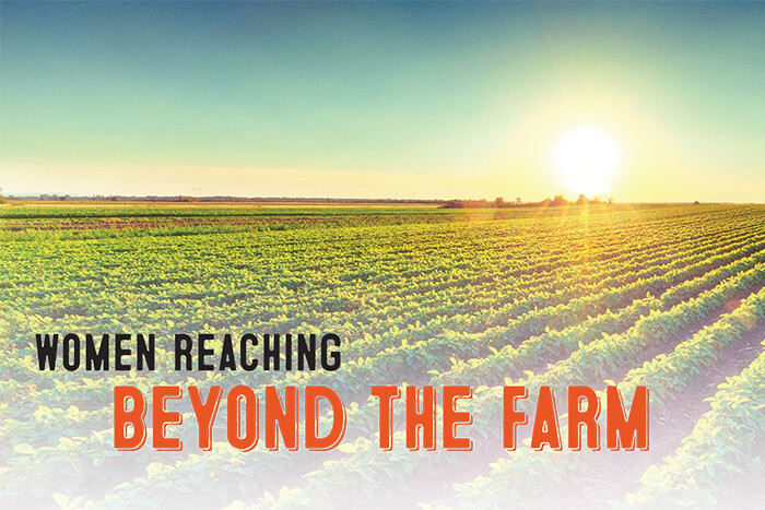 Women reaching beyond the farm