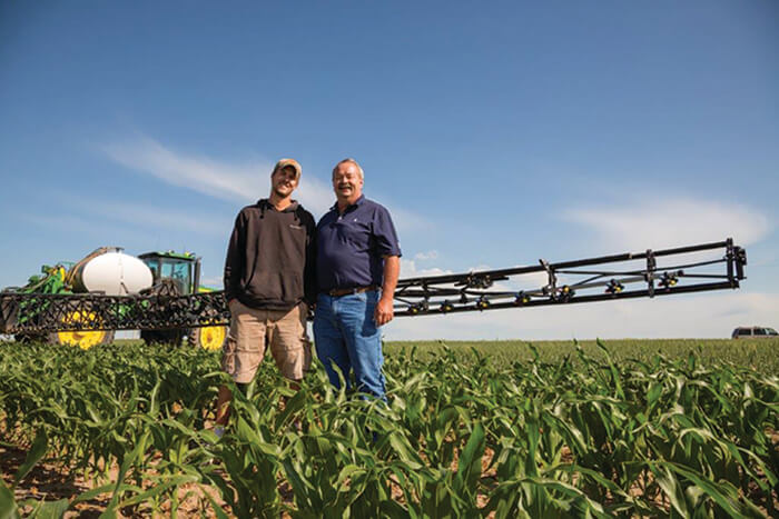 Roric Paulman (right) and his son Zach currently farm around 6,000 acres in western Nebraska.